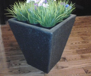 Make an Outdoor Fiberglass Flower Pot