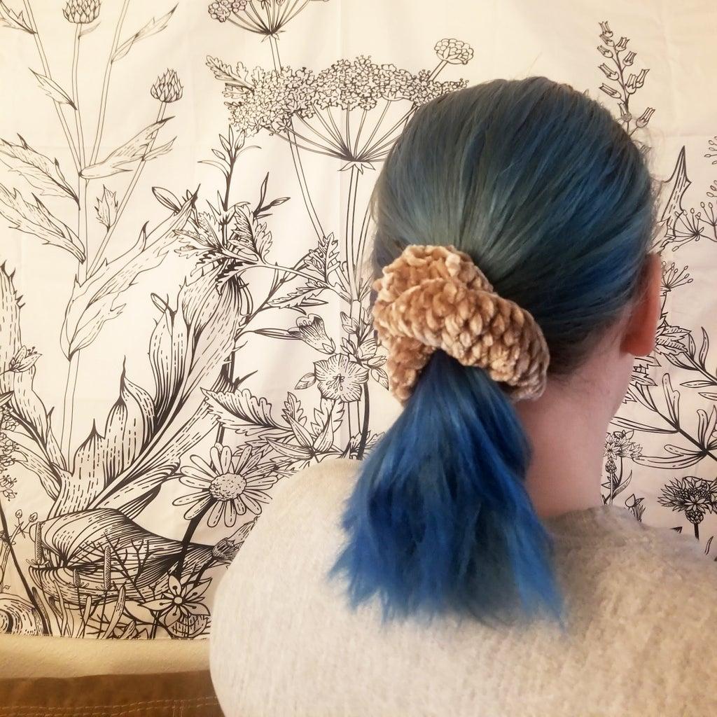 Velvet Crochet Scrunchie