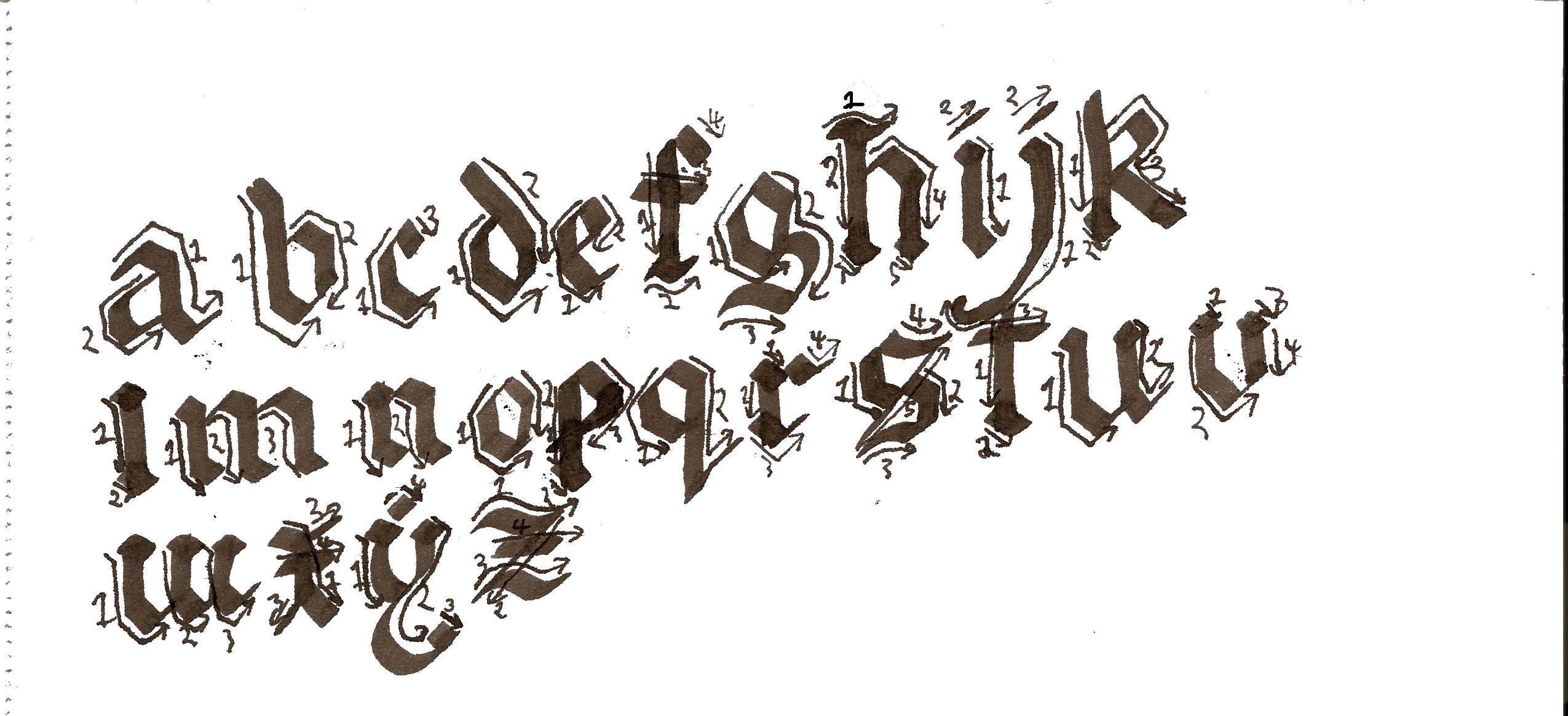 ... about Calligraphy on Pinterest | Gothic Alphabet, Aztec and Fonts