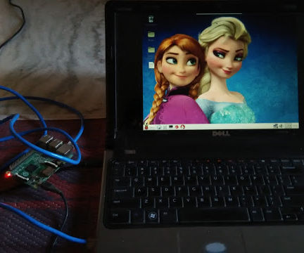 How to connect raspberry pi to laptop display