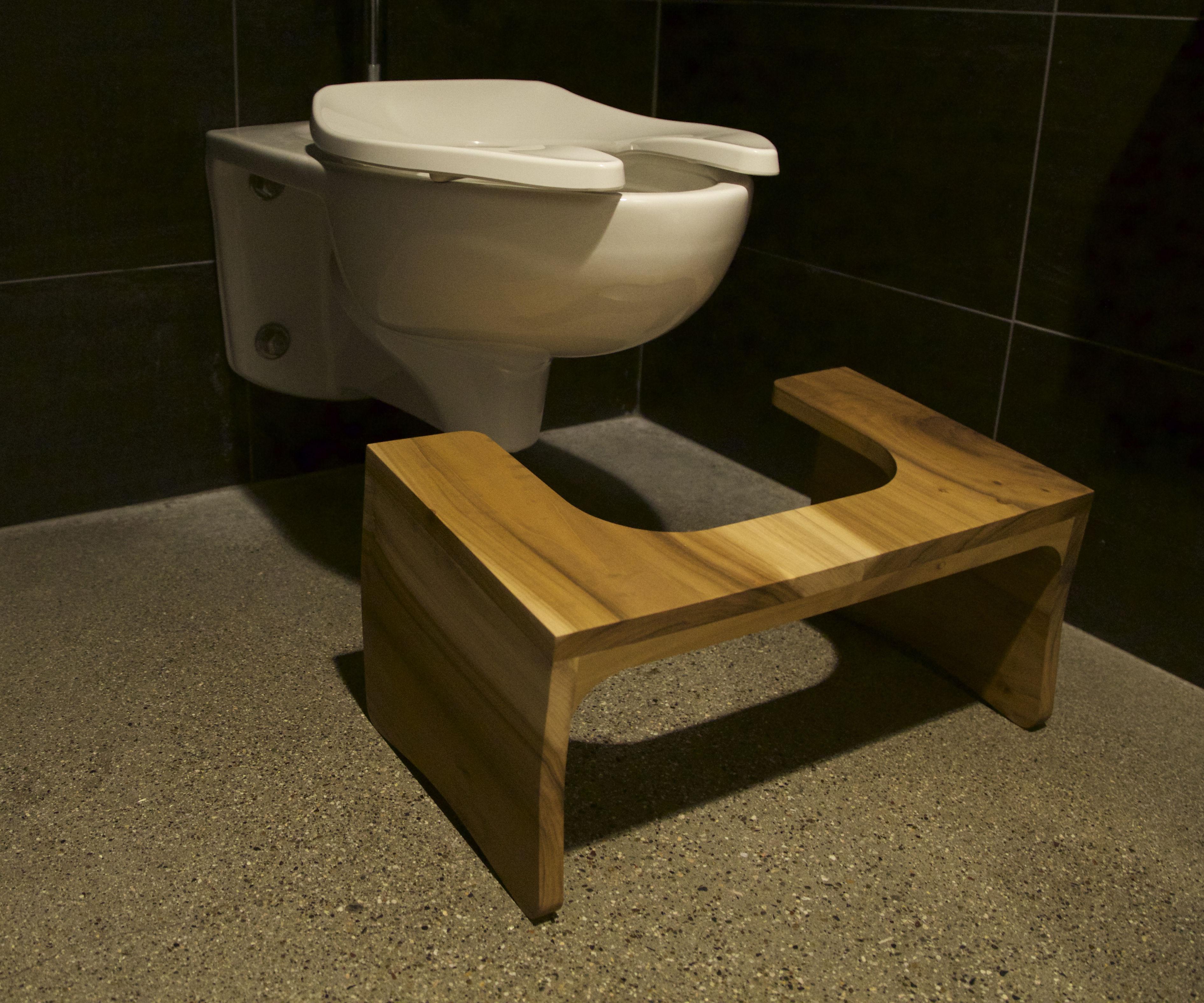Fancy Wooden Toilet Stool