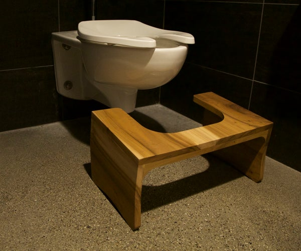 Fancy Wooden Toilet Stool