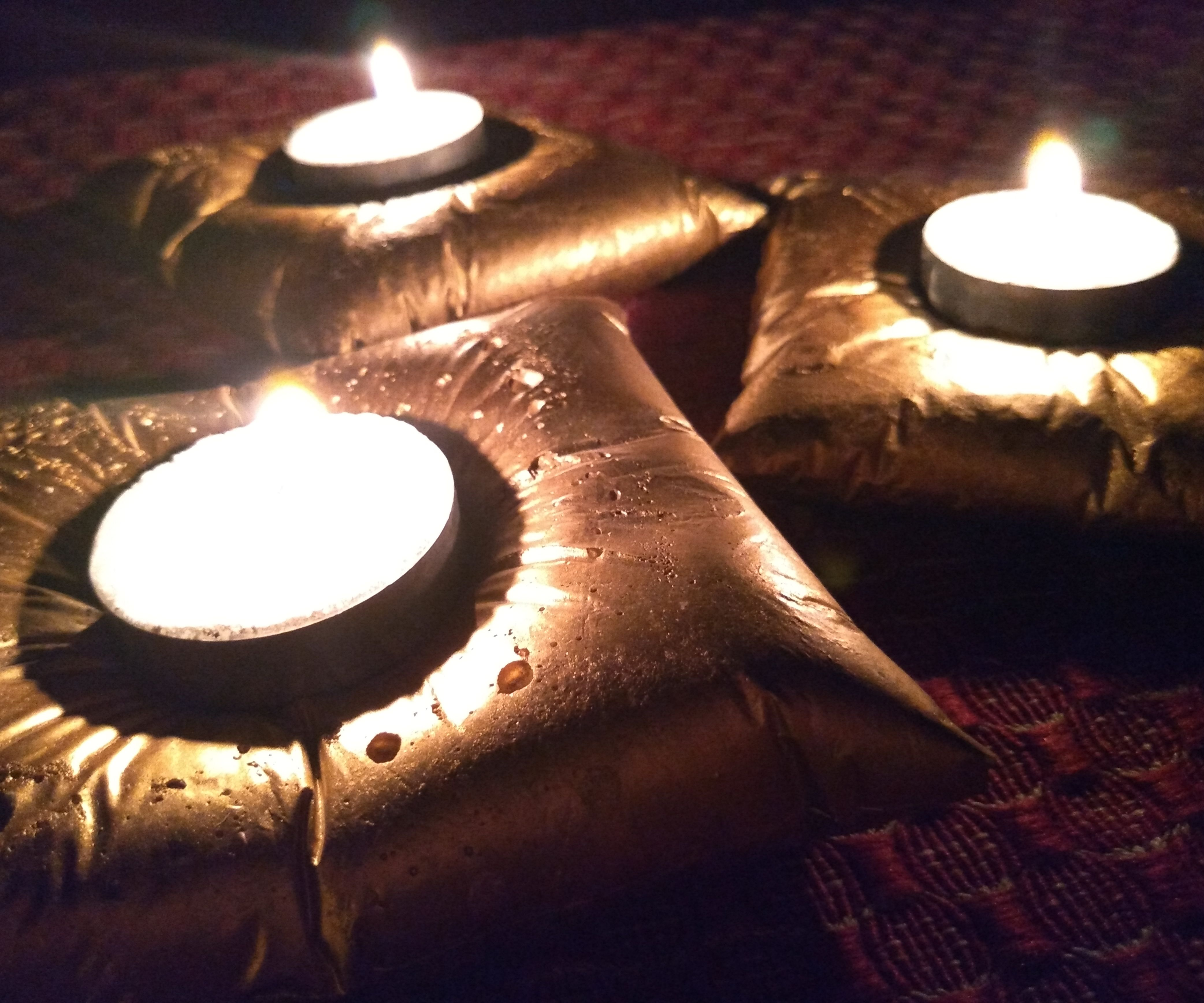 Candle on the Cushion