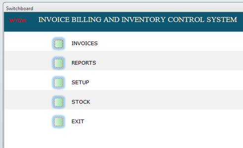 INVOICE BILLING AND INVENTORY CONTROL SYSTEM