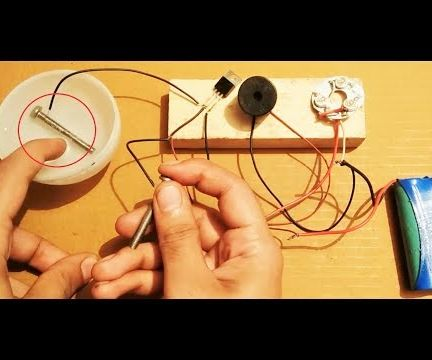 Experiment to Prove That Water and Human Body Are Good Conductors of Electricity