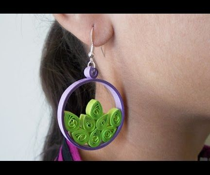 Paper Earrings: How to Make Quilled Earrings in Just a Few Steps!