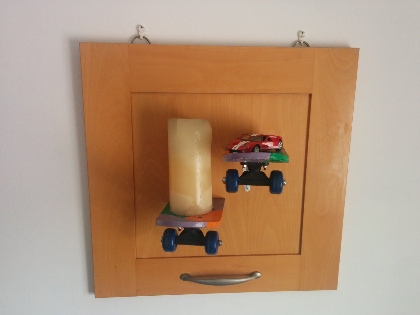 Skateboard Recycled Into Shelves