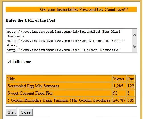 Automated Instructable Views and Favorites Checker