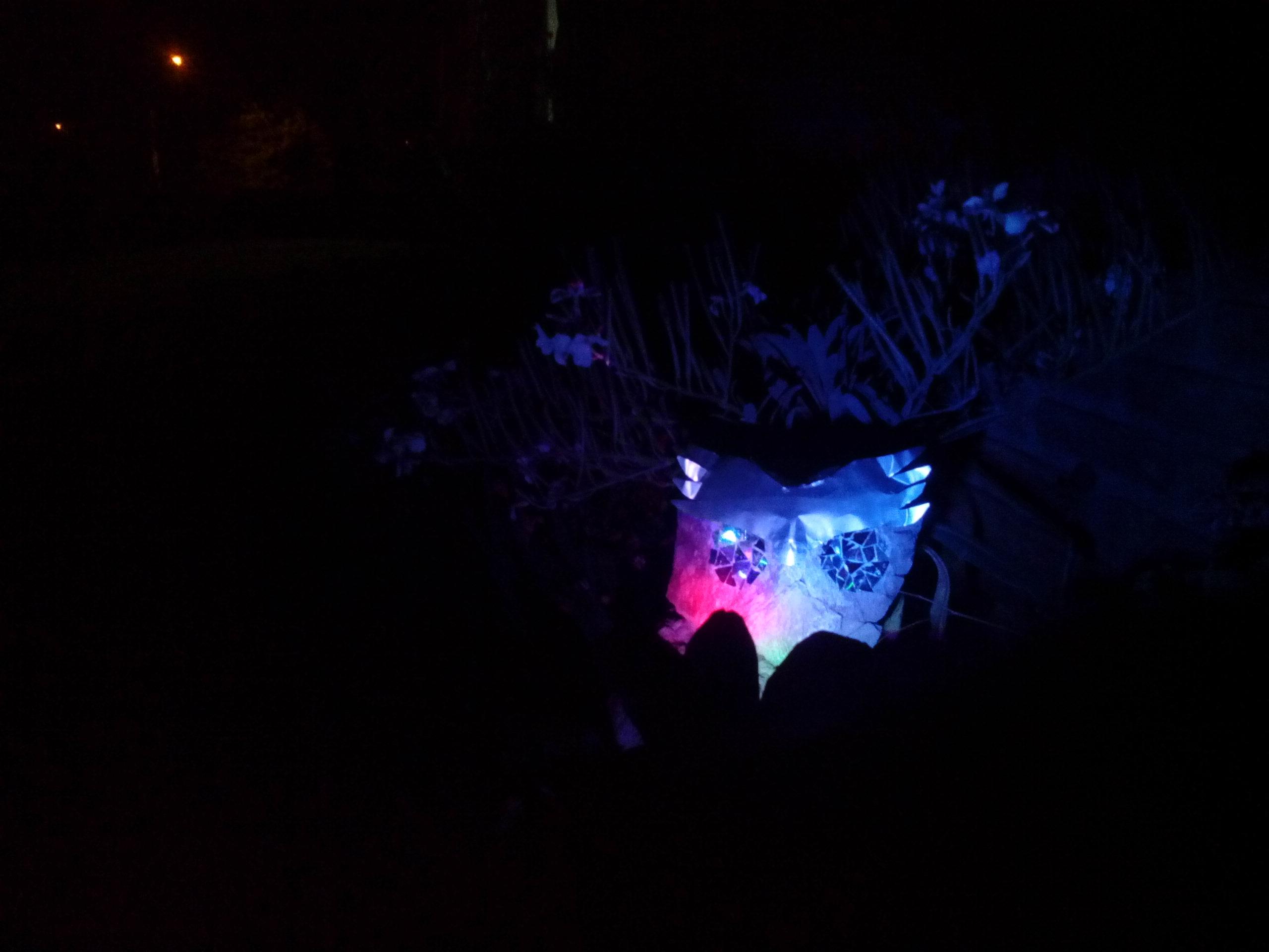 FRIGHTENING STONE OWL