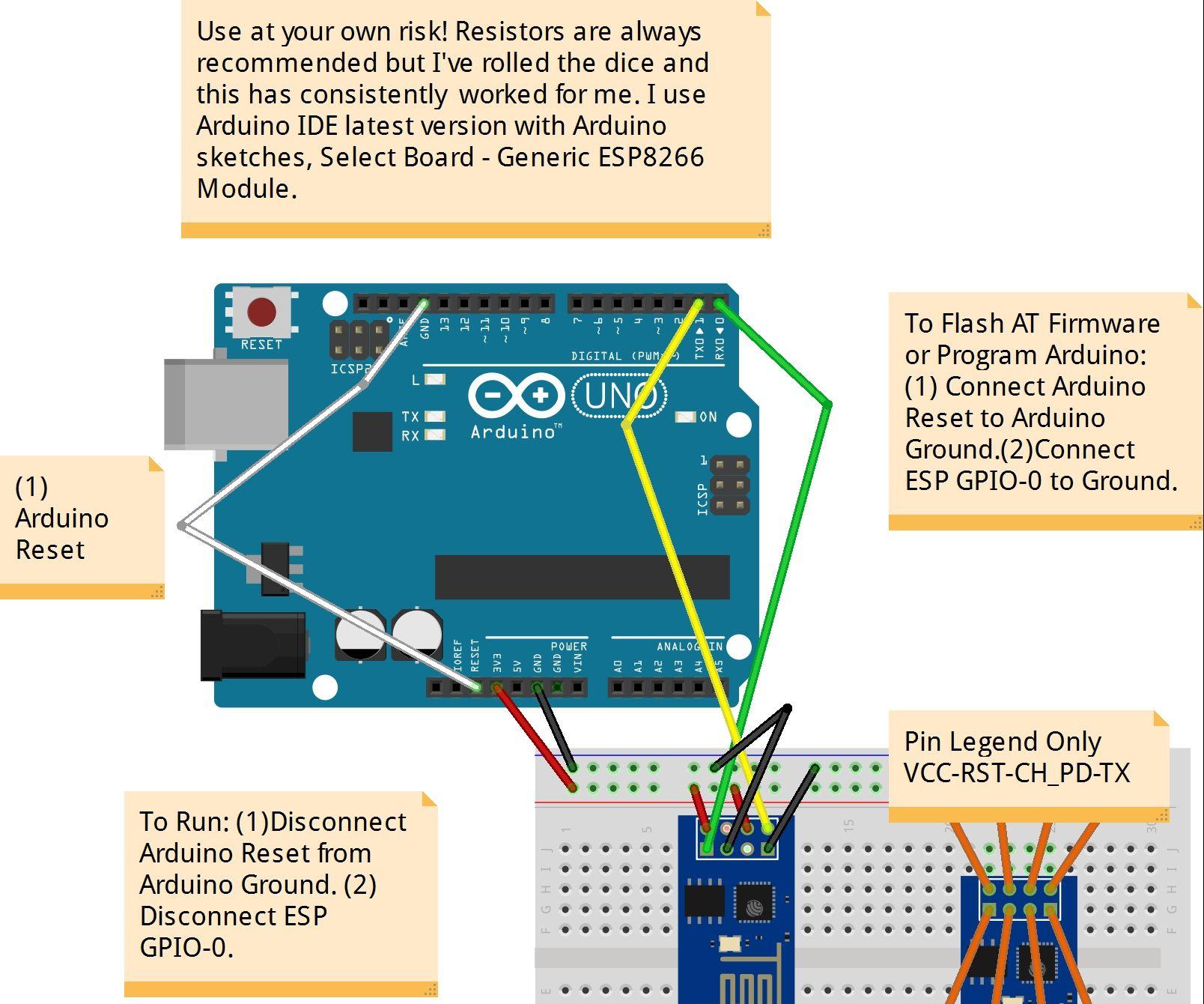 ESP8266 ESP-01 Arduino Programmer