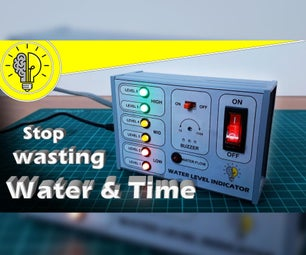 具有临时报警和水流量传感器的水位指示器