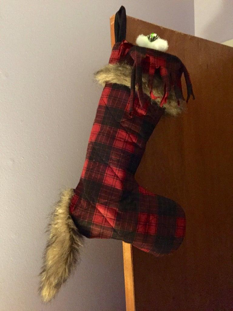 ISO Standard Werewolf Holiday Stocking