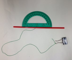 Basic Clinometer From Classroom Materials