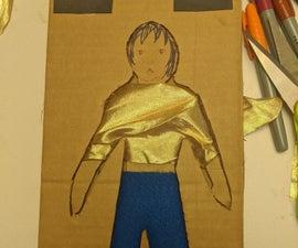 纸板翻转和折叠的时尚
