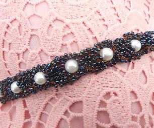 Wire Crochet Interlaced Bead Bracelet