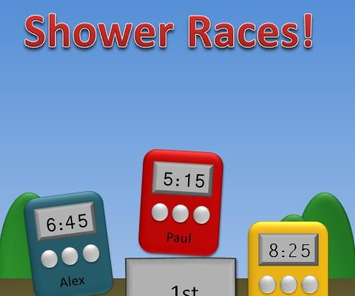 Shower Races: An Energy/Water-Saving Game!