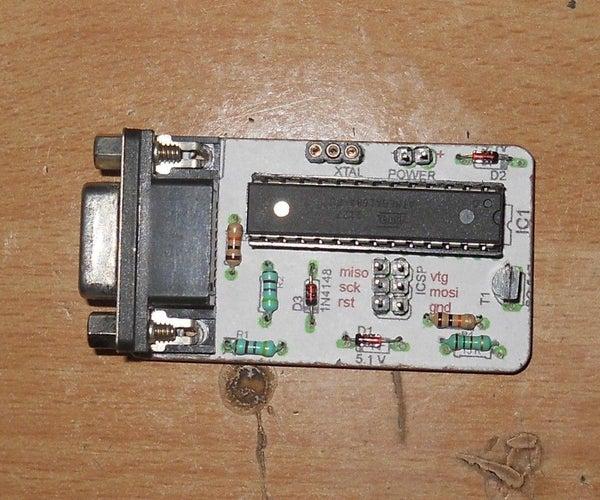 Serial AVR ISP Programer (JUST PLUG AND PROGRAM) NO NEED TO PROGRAM ANY THING.