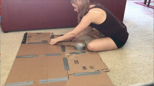 Mapping & Taping the Cardboard