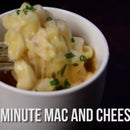 Macarrones con queso en microondas de 5 minutos