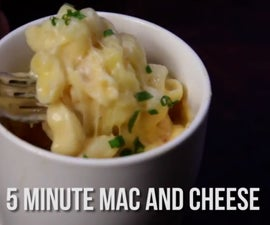 5 Minute Microwave Mac and Cheese