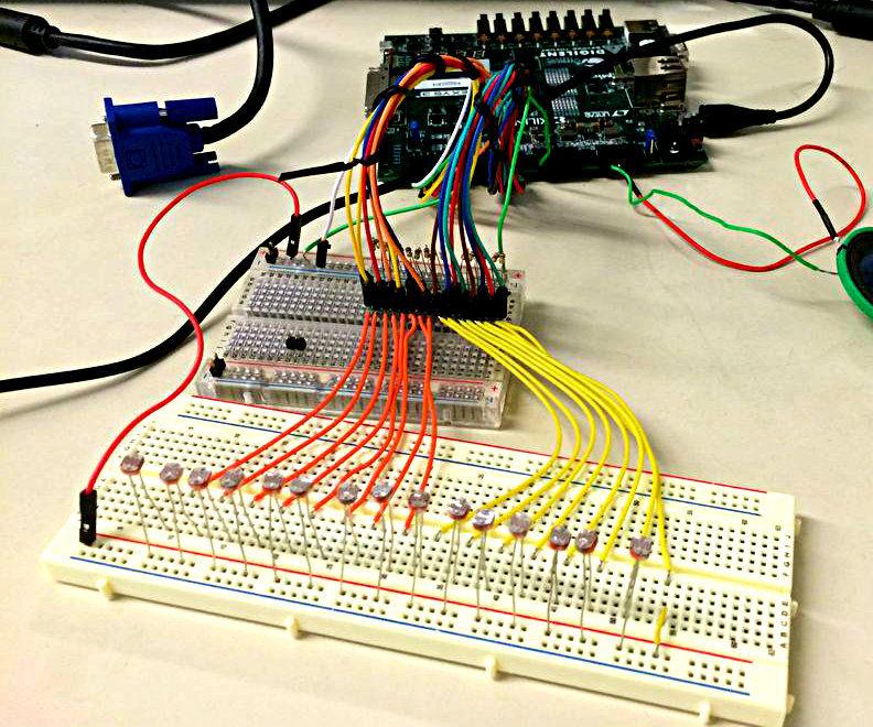 VHDL Photosensitive Synth Machine