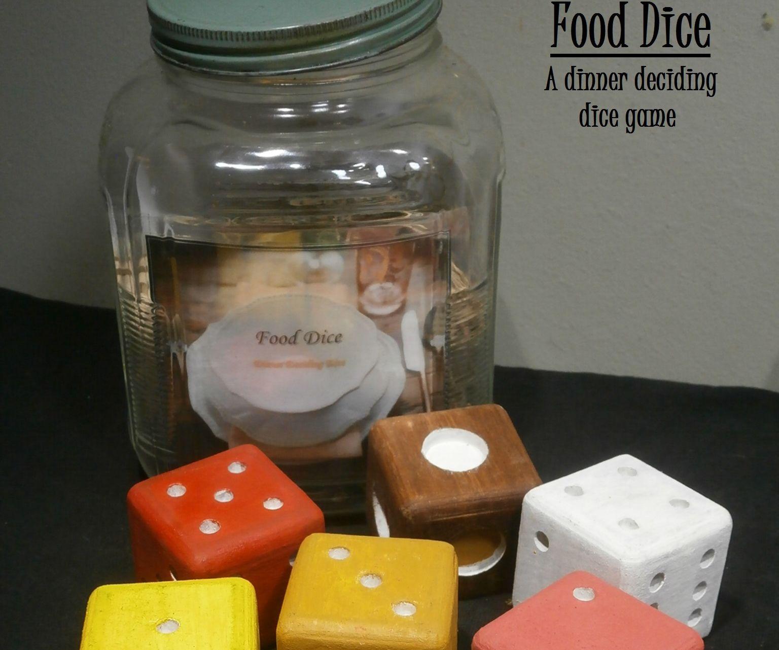 Food Dice; Dinner Deciding Dice
