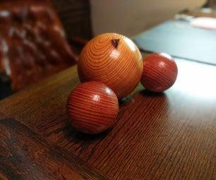 Wood Sphere - Water Molecule