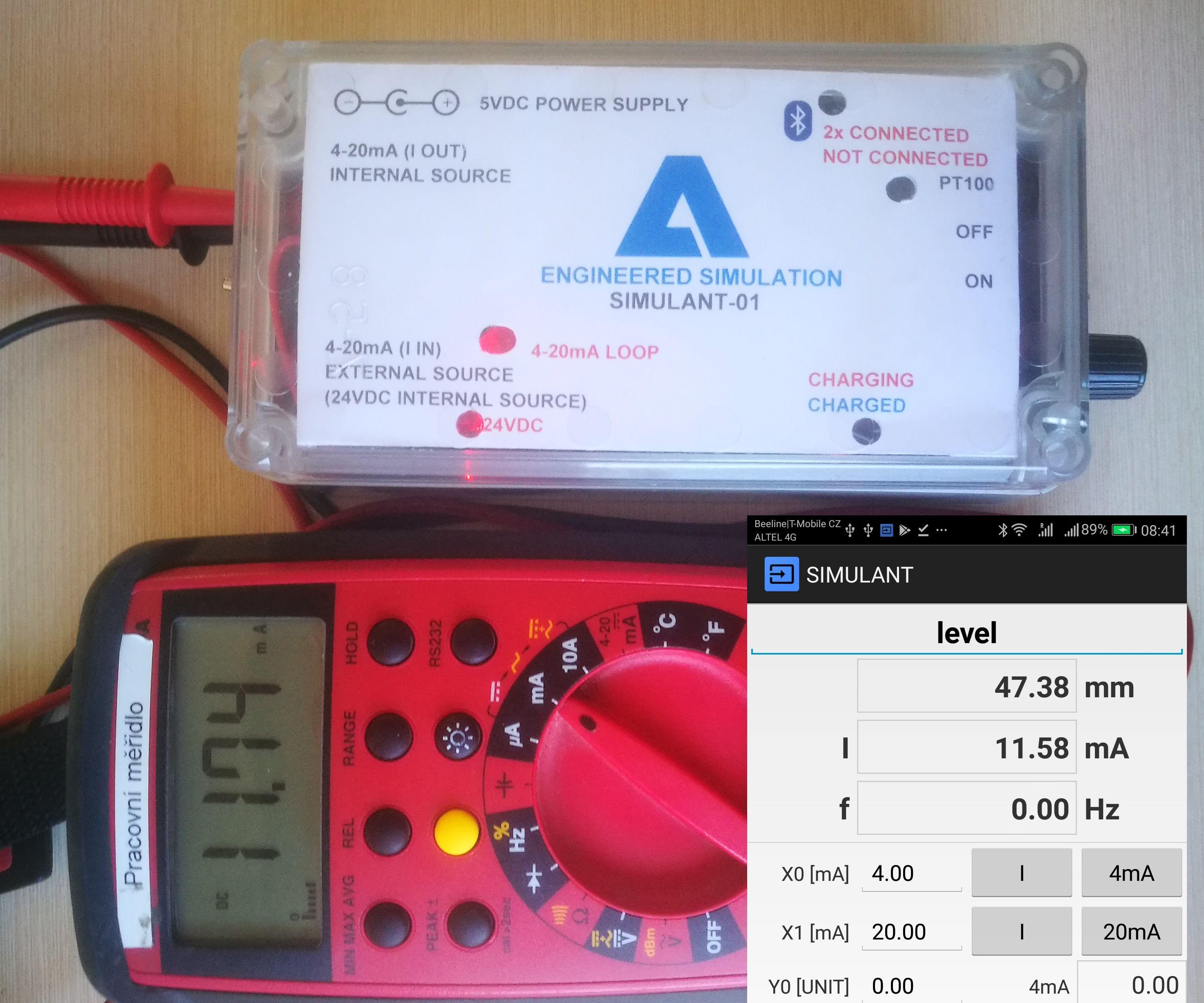 SIMULANT - Remotely Controlled Multi Purpose Simulator 4-20mA, PT100, Pulse Generator and Counter