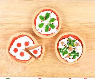 Miniature Play-doh Pizzas