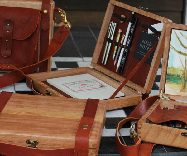 Making Art & Writing Boxes W/ Leather Inserts
