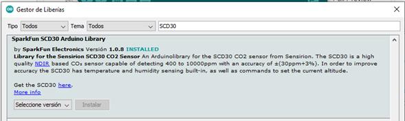 Instalar Las Librerías Del Sensor SCD30