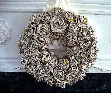 Newspaper Wreath