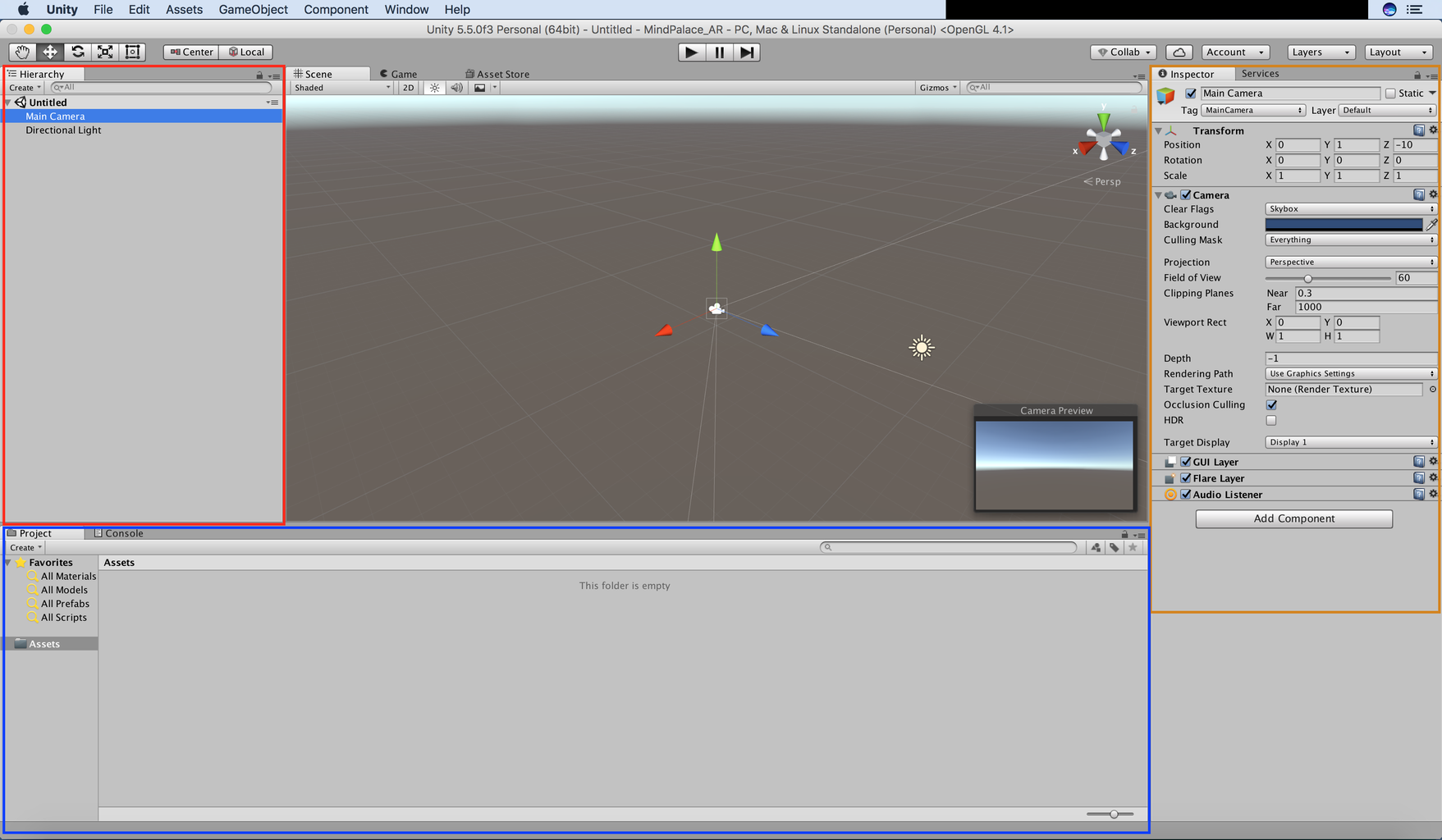 Familiarizing With the Unity Environment