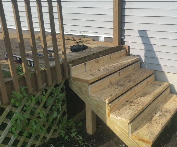 Installing New Steps to a Porch