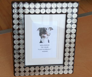 $ DIME FRAME $ Add Bling to Your Boring Picture Frame.