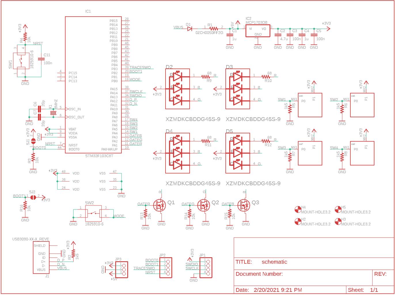Hardware Design - Schematic