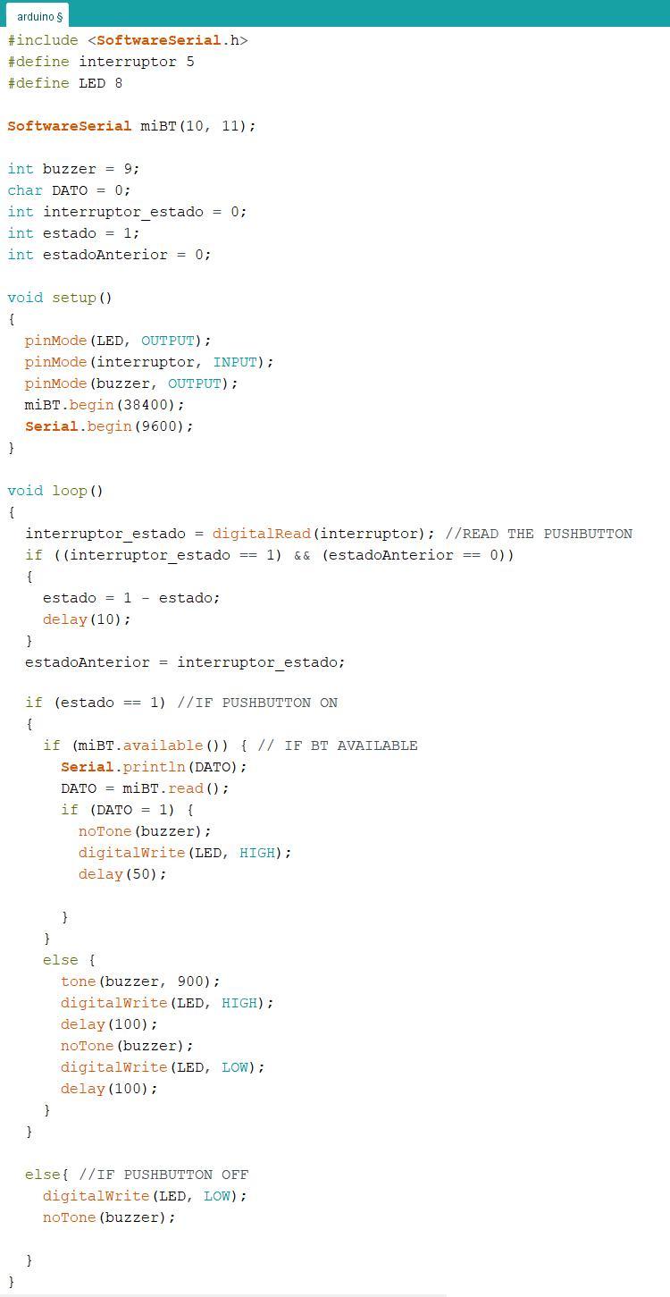 Code of Arduino
