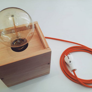 Voice Controlled Wooden Edison Lamp - (Video)