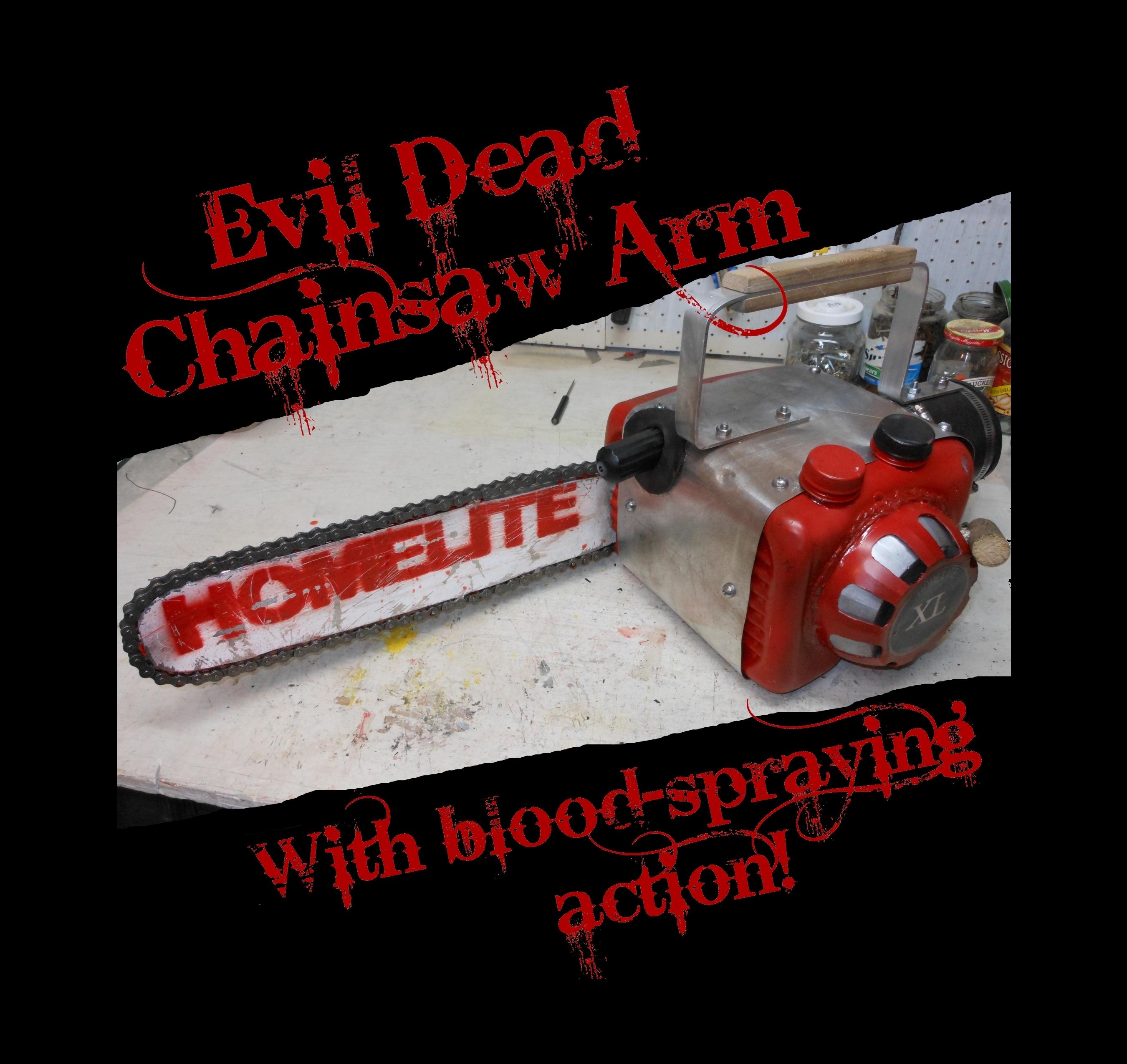 Blood-Spraying Evil Dead Chainsaw Arm!