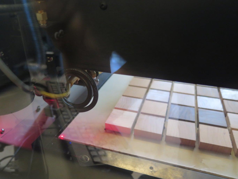 Laser Cutting Tessellated Lizards