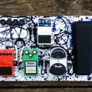 Electric Guitar Pedal Board