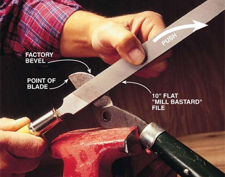 How to Sharpen Pruning Shears