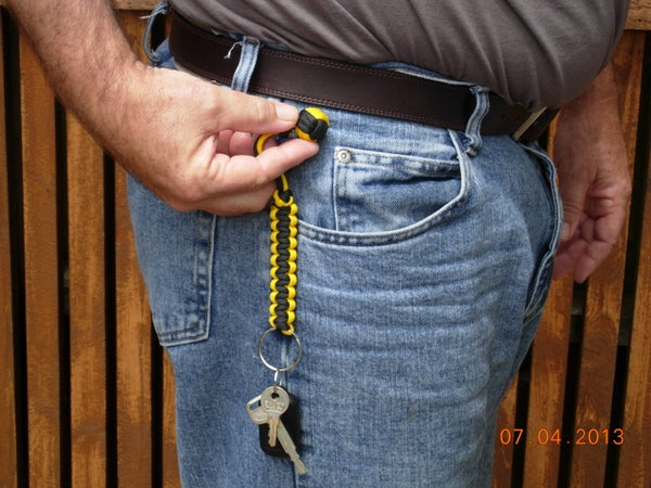 Two Color Monkey Fist Key Fob