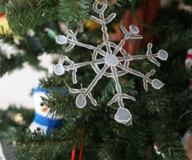 Hot Glue Snowflake Ornaments