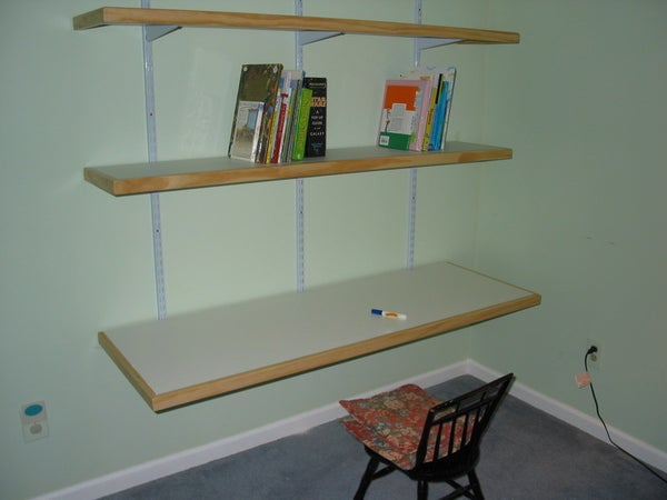 Wall Desk and Bookshelves