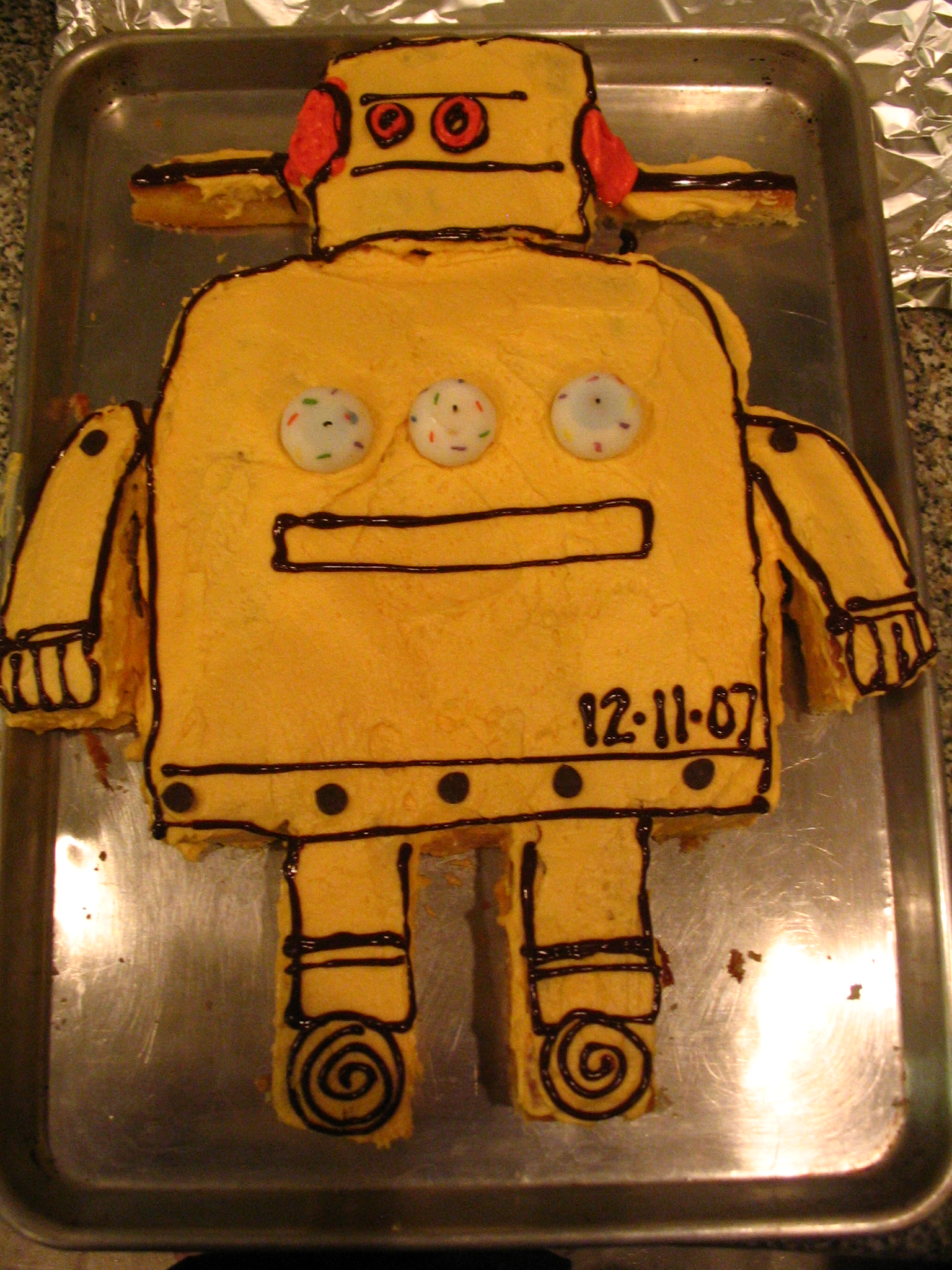 Instrucable Robot Cake
