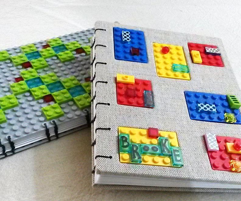 2 LEGO Journals - Coptic Bookbinding