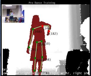 Using Kinect Hacks for Dance Training