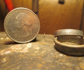 DIY Beautiful Coin Ring Out of a Clad Quarter