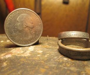 DIY漂亮的硬币戒指
